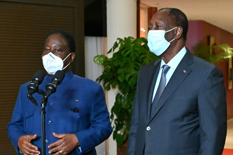 Ivory Coast president meets opposition leader amid tensions