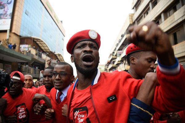 Bobi Wine guard, supporters injured in running battles with security