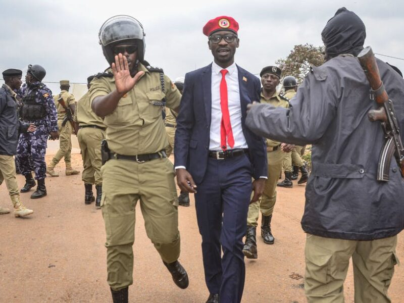 Uganda opposition presidential candidate Bobi Wine says he, campaign team arrested