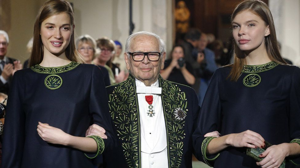 Pierre Cardin: French fashion giant dies aged 98