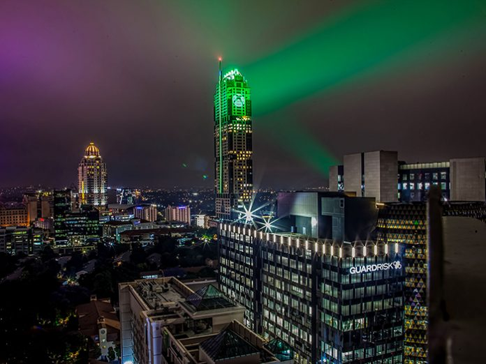 Robe Lights the Tallest Building in Africa for Xbox launch