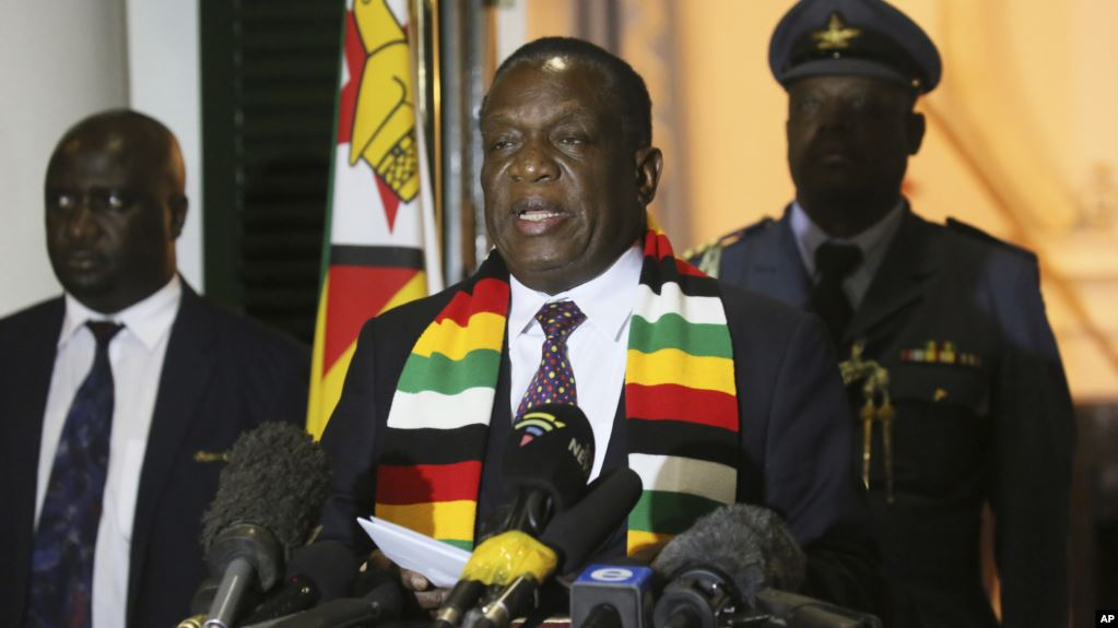 Mnangagwa Attacks USA After Trump Supporters Overrun Security Agents in Country's Capital City