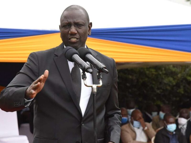 No room for divisive politics in Kenya - Ruto warns