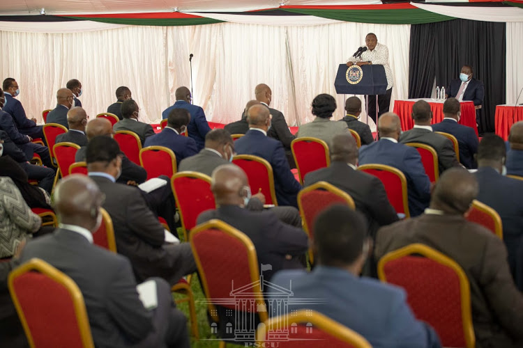 Ruto absent as Uhuru meets Executive at State House