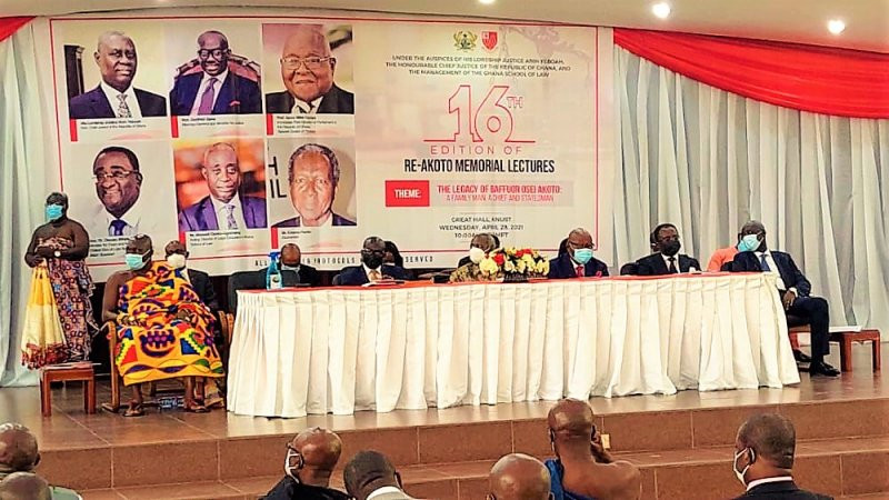 'Let's honour Baffour Osei Akoto as champion of democracy, human rights' - Prof. Oquaye