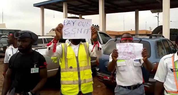 Security officers at Kumasi Airport declare strike over unpaid salaries, SSNIT contributions